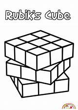 Cube Coloring Rubiks Blogx Info sketch template