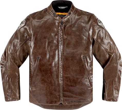 motorcycle riding leathers mens icon brown leather retrograde long sleeve motorcycle