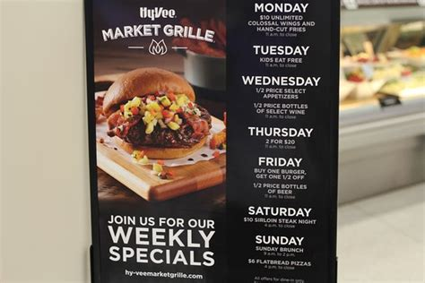 Daily Specials Sunday Brunch Hy-Vee Market Cafe Best ...