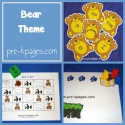 Preschool Bear Theme