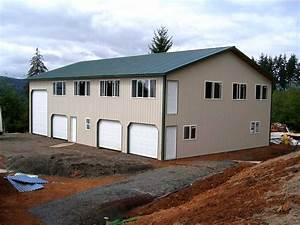 two story pole buildings hansen buildings With 50x100 pole barn