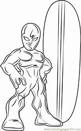 Coloring Surfer Silver Pages Super Squad Hero Lego Cartoon Coloringpages101 Pdf Template Series sketch template