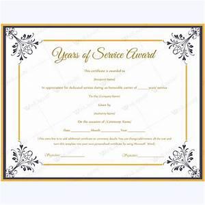 long service certificate template sample - certificate templates