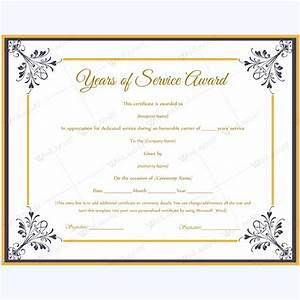 certificate templates With service anniversary certificate templates