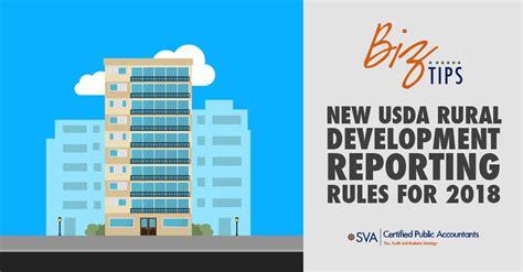 usda rural development reporting rules