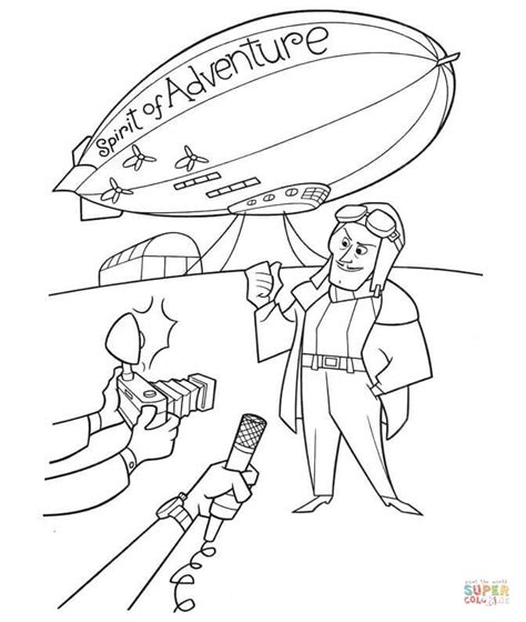 Kleurplaat Zeppelin by Spirit Of Adventure Airship Coloring Page Free Printable