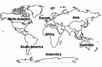 Continents Map Coloring Printable Worksheet Oceans Preschool