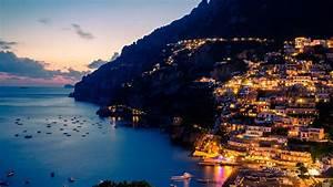 Amalfi, Coast, At, Night