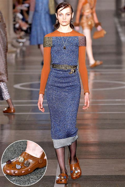 high fashion crocs make their debut at london fashion week
