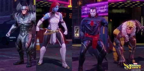 marvel strike force sinister mr stryfe sabretooth roster adds villains heroes growing ever its synergy team characters him abilities paired