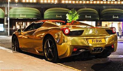 Ferrari Cars London Exotic Oro Irak Roofless
