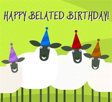 belated birthday sheep dance  belated birthday wishes ecards