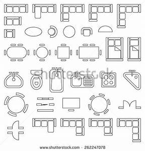 Grundriss Symbole Architektur : standard furniture symbols used in architecture plans ~ Lizthompson.info Haus und Dekorationen