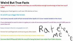 True Weird Facts