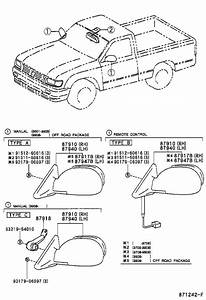 Toyota Tacoma Door Mirror Adjustment Knob  Knob  Control