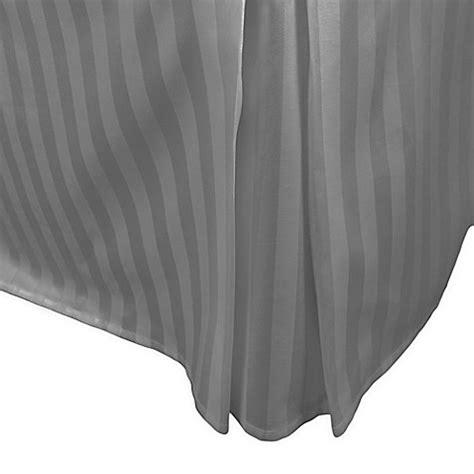 38361 black bed skirt 500 thread count damask stripe bed skirt bed bath beyond