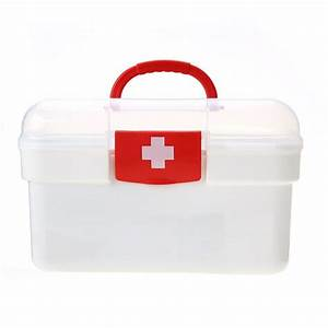 Carevas Plastic First Aid Medicine Storage Box Organizer ...