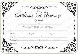 9 best images of marriage certificate template free With wedding certificate templates free printable