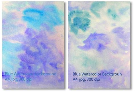 Blue watercolor textured background instant download