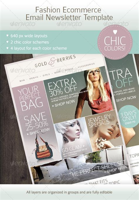 fashion ecommerce email newsletter template  mariarti