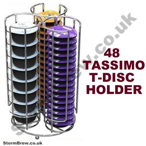 NEW TASSIMO 48 T DISC COFFEE POD HOLDER RACK STAND   eBay