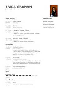 resume experience exles for cashier cashier resume sles visualcv resume sles database