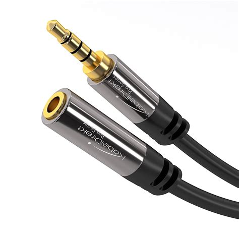 kabeldirekt headset extension cable 3 5mm to 3 5mm connector 4 pole pro series audio