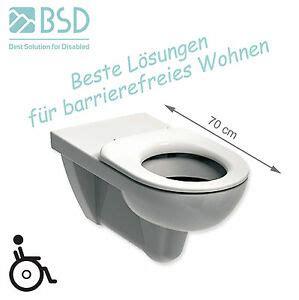 wand wc 10 cm erhöht wand wc verl 228 ngert rollstuhlgerecht behindertengerecht barrierefrei 70 cm ebay