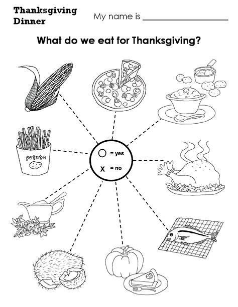 Thanksgiving Food Worksheets  Happy Easter & Thanksgiving 2018