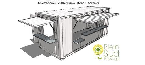cuisine équipé containers aménagés snack bar restaurant coffee shop