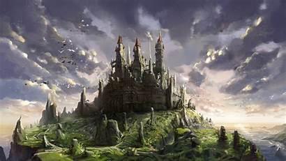 Castle Fantasy Castles Landscape Wallpapersafari Anime Artwork