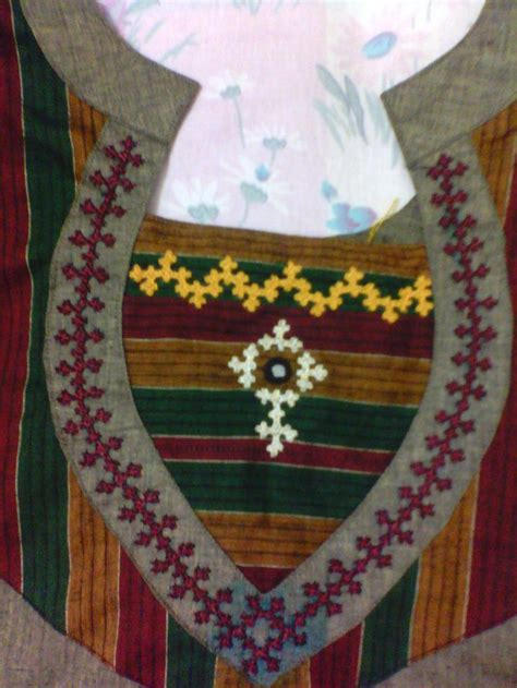 kutch work   neck hand embroidery