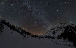 Landscape, Stars, Mountains, Wallpapers, Hd, Desktop, And