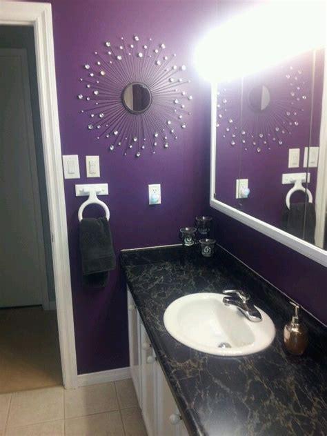 purple bathroom ideas purple bathroom western redo home with bling bathroom pinterest round mirrors purple