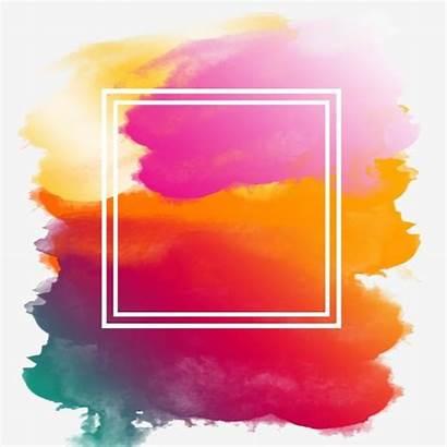 Splash Paint Watercolor Frame Colorful Hologram Rainbow