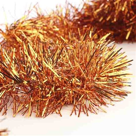 metallic orange tinsel garland christmas garlands christmas and winter holiday crafts