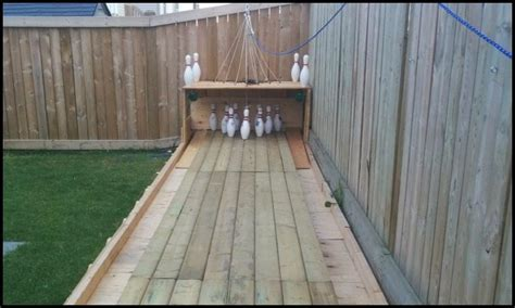 Build a backyard bowling alley!   DIY projects for everyone!