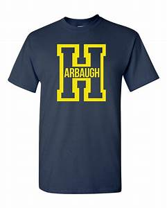 harbaugh big letter h football michigan adult t shirt tee With big letter t shirts