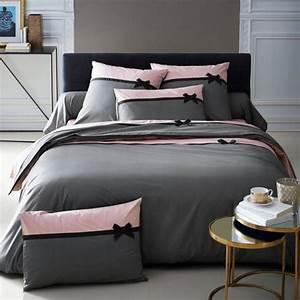 Parure De Lit Rose Et Gris : parures de lit originales d coration facile pour la chambre coucher ~ Teatrodelosmanantiales.com Idées de Décoration