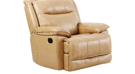 canyon ranch beige leather glider recliner contemporary