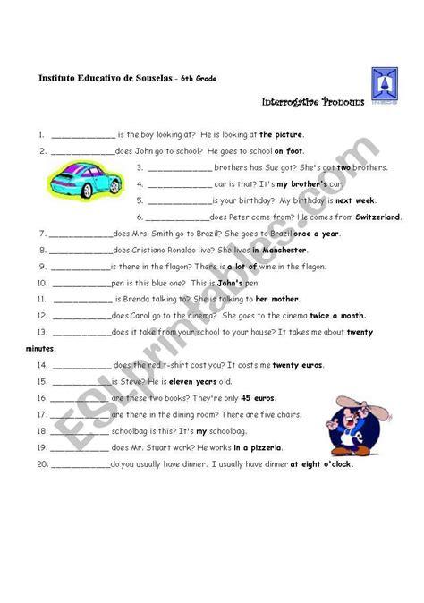 interrogative pronouns esl worksheet by lhmoniz