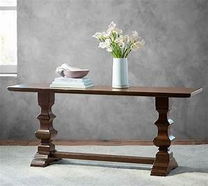 banks console table pottery barn With banks bed pottery barn