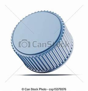 Stock Illustrations of Plastic bottle cap isolated on a ...