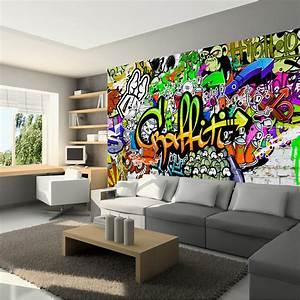 Fototapete graffiti vlies tapete kinderzimmer wandbild xxl for Balkon teppich mit graffiti tapeten kaufen