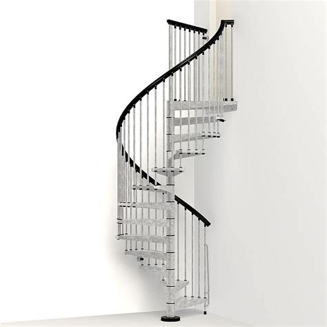 Ideas For Kitchen Window Treatments - arke enduro 63 in galvanized steel spiral staircase kit
