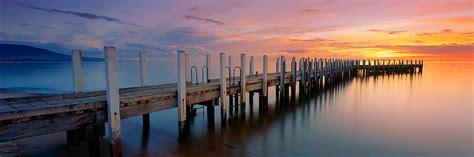 safety beach jetty sunset  print mark gray fine