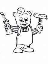 Sausage Wiggly Piggly Sauce Coloring Printable Coloringonly sketch template