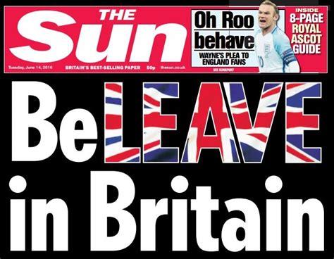 eu referendum  newspapers  backing remain  leave   debate