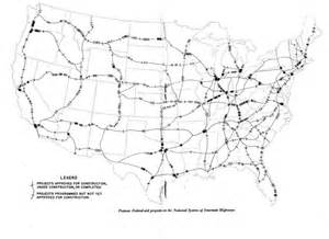 Federal Interstate Highway System Map