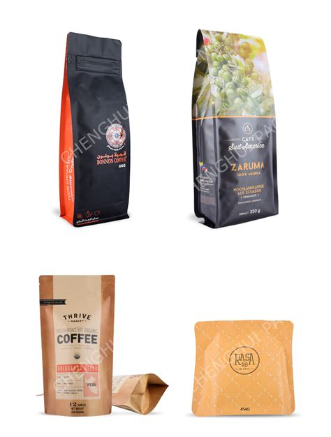 Make stale coffee a thing of the past for the benefit of your coffee fans and aficionados. Custom Brand Printing Retail PE Plastic Coffee Bag with Valve - Buy Coffee Bag with Valve ...